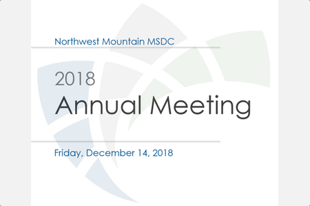 NWMMSDC 2018 Annual Meeting
